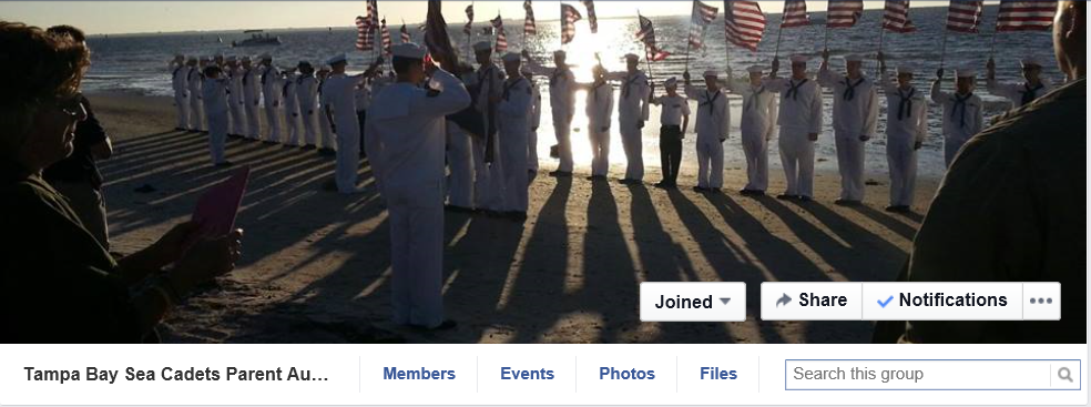 Tampa Bay Sea Cadets Facebook group